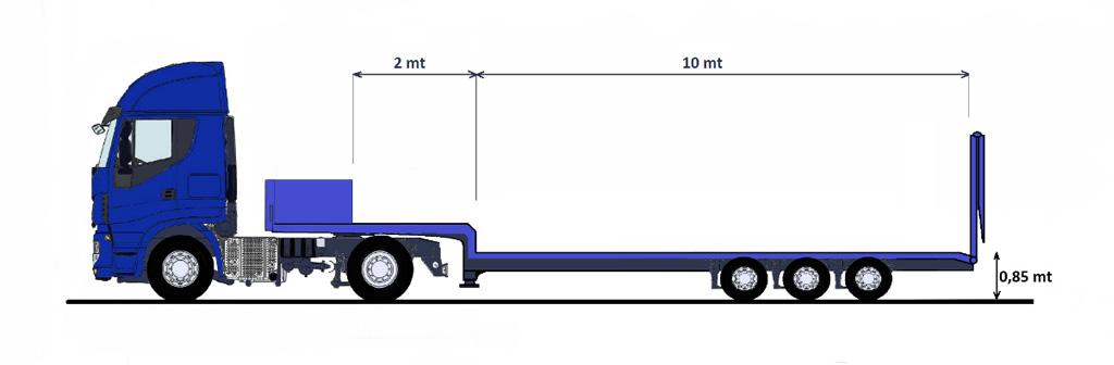 SEMIRIMORCHIO CARRELLONE – con verricello 10 ton